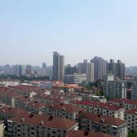 끝없이 이어져있는 상하이 빌딩